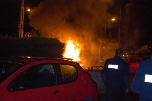 Car Fire Glasnevin-4458
